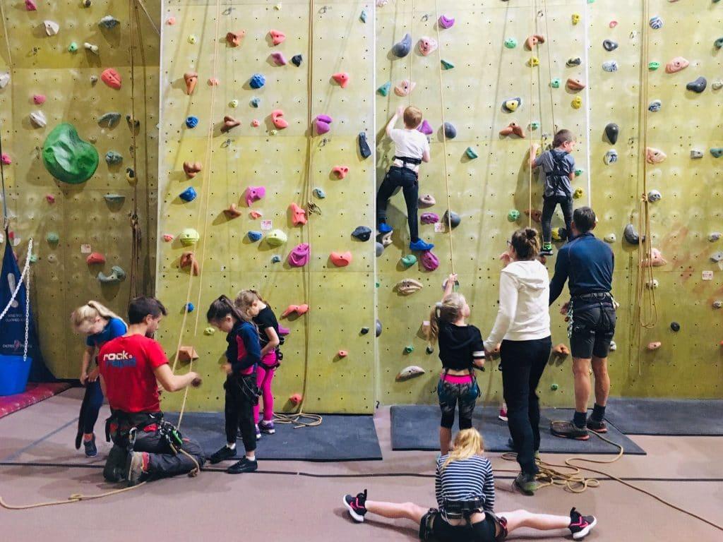 Rock climbing in North Devon